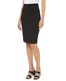 Petite Ponté Knit Pencil Skirt