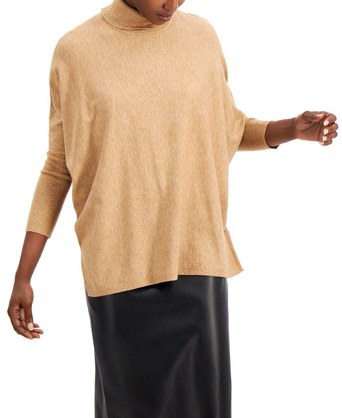 Alfani - Drop-Shoulder Turtleneck Sweater