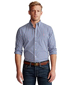 Men's Classic-Fit Plaid Poplin Shirt