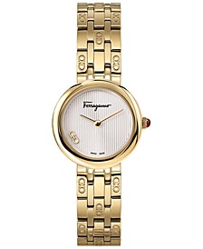 Women's Swiss Forever Gold-Tone Stainless Steel Bracelet Watch 28mm