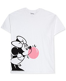Trendy Plus Size Cotton Bubble Gum Minnie Graphic T-Shirt