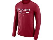 Oklahoma Sooners Men's Dri-Fit Cotton Icon Wordmark Long Sleeve T-Shirt