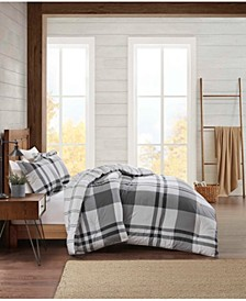 Flannel Plaid Comforter Set