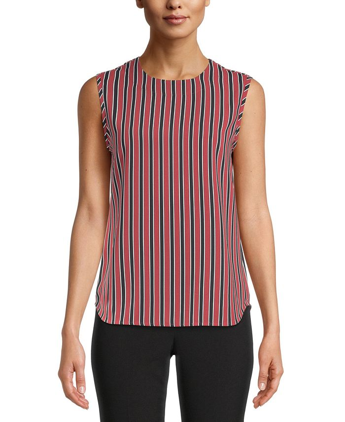 Anne Klein - Striped Sleeveless Top