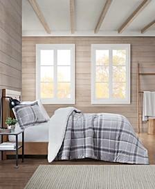 Sherpa Plaid Full/Queen Comforter Set