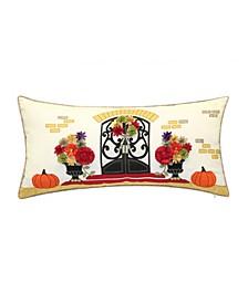 """Indoor Outdoor Harvest Welcome Home Decorative Pillow, 28"""" x 14"""""""