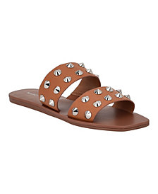 Marc Fisher Bolive Studded Flat Sandals