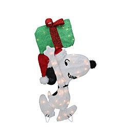 Pre-Lit Peanuts Snoopy with A Present Christmas Outdoor Decor