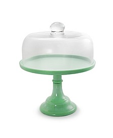 "12"" Cake Stand with Glass Dome"