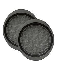 Set of 2 Non-Stick Metal Round Baking Pan