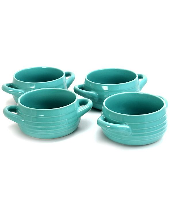 Gibson Home Plaza Cafe 29.7 Ounce Stoneware Soup Bowl, Set of 4