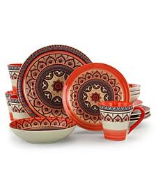 Zen Mozaik 16 Piece Dinnerware Set