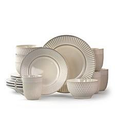 Market Finds 16 Piece Round Stoneware Dinnerware Set
