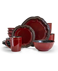 Regency 16 Piece Luxurious Stoneware Dinnerware Set