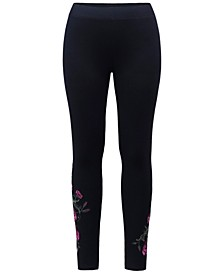 Plus Size Embroidered Leggings, Created for Macy's