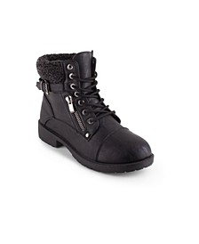 Women's Barrie Moto Combat Booties