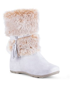 Women's Downhill Fuzzy Mid Calf Boots