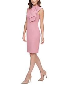 Tie-Neck Sheath Dress