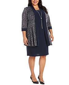 Plus Size Glitter Jacket & Dress