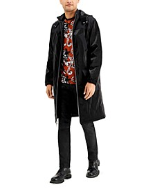 INC Men's Pieced Faux Leather Topcoat, Created for Macy's