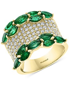 EFFY® Emerald (3-1/2 ct. t.w.) & Diamond (1-1/4 ct. t.w.) Ring in 14k Gold