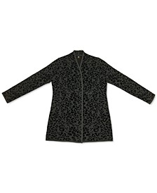 Plus Size Animal Print Cardigan Sweater, Created for Macys