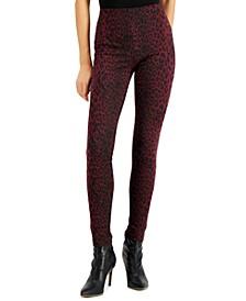 INC Animal-Print Skinny Pants, Created for Macy's