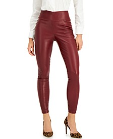 INC Faux-Leather Leggings, Created for Macy's