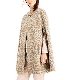 INC Cheetah-Print Cape, Created for Macy's