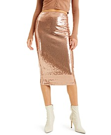 CULPOS X INC Sequin Pencil Skirt, Created for Macy's
