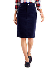 Charter Club Corduroy Tummy-Control Skirt, Created for Macy's