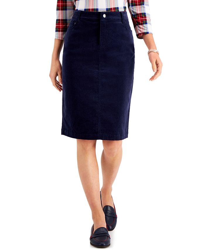 Charter Club - Corduroy Tummy-Control Skirt