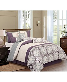 Athens 7-Piece California King Comforter Set
