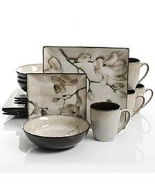 Clarice 16 Piece Square Stoneware Dinnerware Set