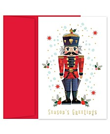 the Nutcracker Holiday Boxed Cards, 18 Cards and 18 Foil Lined Envelopes
