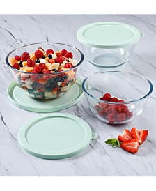 6-Pc. Glass Food Storage Bowl Set with Lids