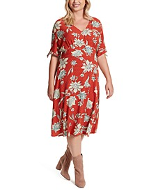 Trendy Plus Size Printed A-Line Dress