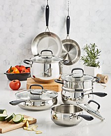 Stainless Steel 12-Pc. Cookware Set, Created for Macy's
