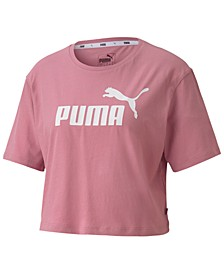 Women's Cotton Cropped Logo T-Shirt