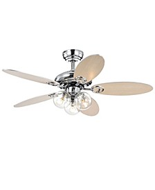 "Hue 42"" 3-Light Indoor Remote Controlled Ceiling Fan with Light Kit"