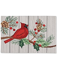 "Cardinal 20"" x 30"" Hooked Rug, Created for Macy's"
