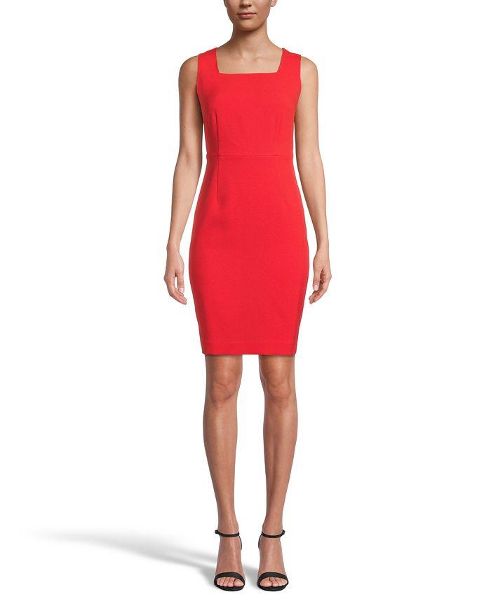 Kasper - Square-Neck Sheath Dress