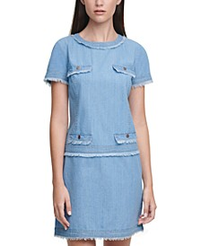 Karl Lagerfeld Crewneck Denim Dress