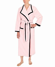 Colorblocked Long Wrap Robe