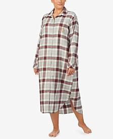 Plus Size Plaid Sleepshirt