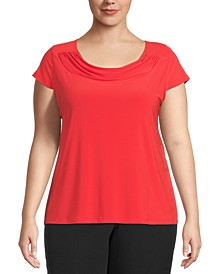 Plus Size Cowlneck Top