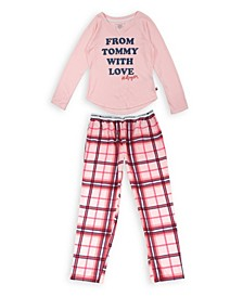 Big Girls Tommy Love Pant, 2 Piece Set