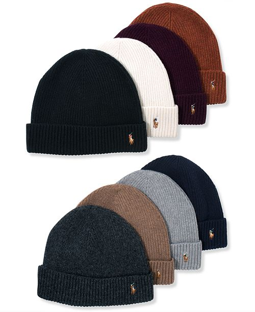 fc9779b2b Polo Ralph Lauren Signature Merino Cuffed Beanie   Reviews - Hats ...