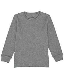 Little Boys Crew Neck Basic Solid Thermal T-shirt