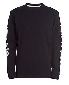 Big Boys Calvin Klein Trio Long Sleeve Crew Neck T-shirt
